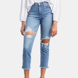 LEVIS SCULPT 724 HIGH RISE STRAIGHT CROPPED  0/25W